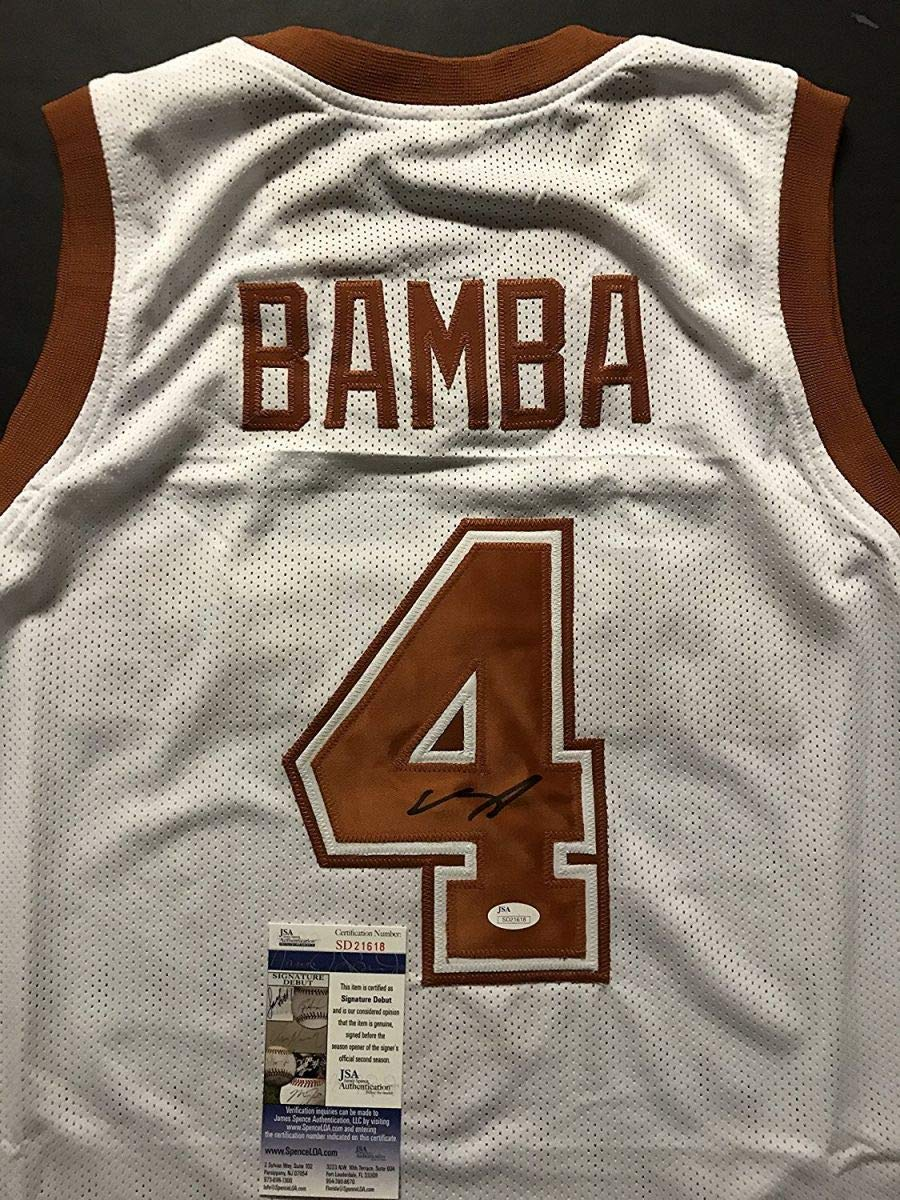 wholesale dealer 45186 26078 Autographed/Signed Mohamed Mo Bamba Texas Longhorns White ...