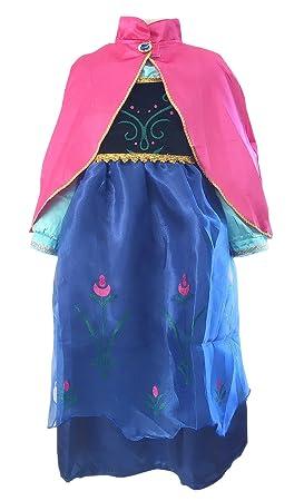 La Senorita Anna Frozen Vestido Princesa Niña + Frozen ...
