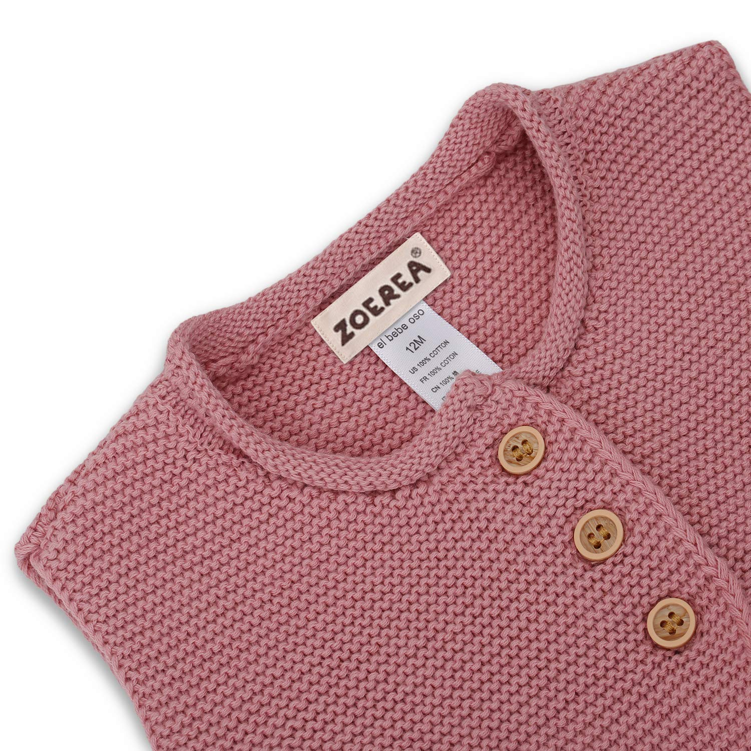 Baby Knitted Sweater Romper 0-18 Months Solid Color Thick Cotton O-neck Autumn Winter Infant Boy Girl Baby Clothing Easy To Repair Boys' Baby Clothing