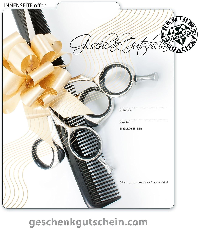 Coiffeure 10 Stk Premium Geschenkgutscheine Gutscheine zum FaltenMulticolor f/ür Friseure Hairstylisten K295 pos-hauer Haarstudios