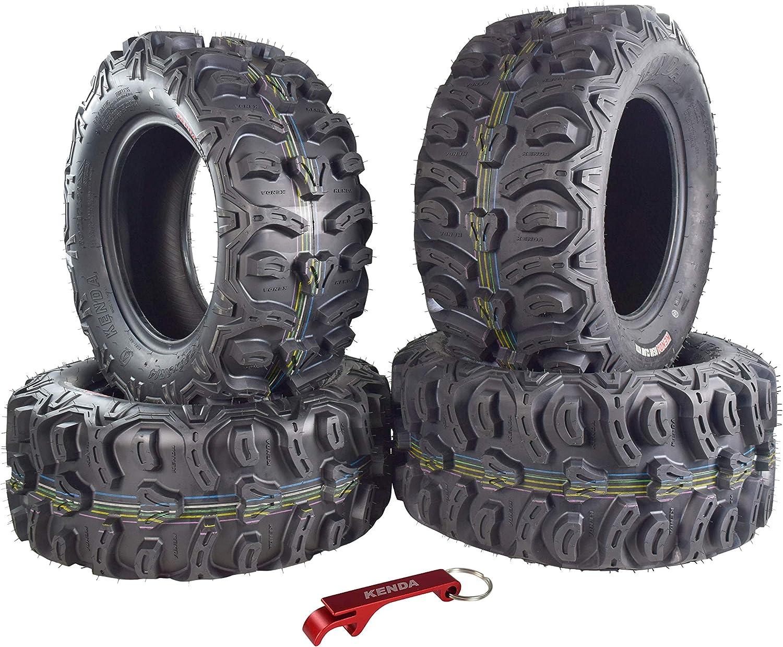 Kenda Bear Claw HTR Radial ATV//UTV Tire w//Key Chain 26 4 Set 26x9-14 26x11-14