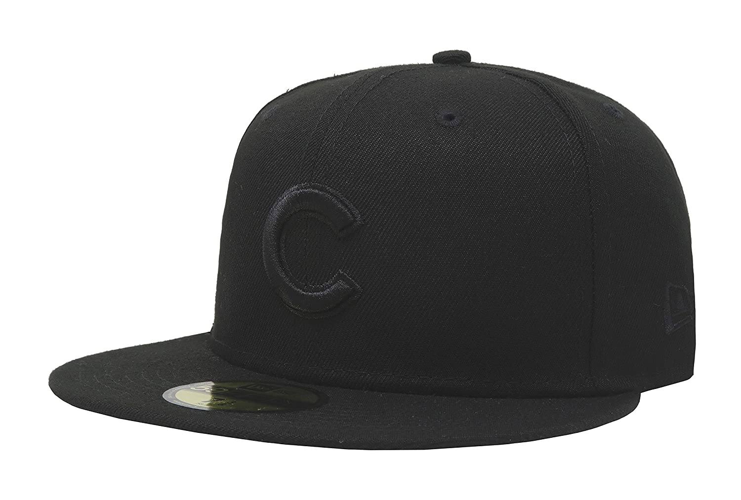 04185d7c0b9 New Era 59Fifty Hat MLB Basic Chicago Cubs Black Black Fitted Baseball Cap  at Amazon Men s Clothing store