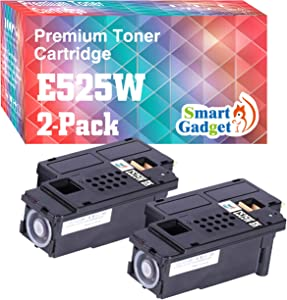 Smart Gadget Compatible Toner Cartridge Replacement for Dell E525W 525w E525 to Work with 593-BBJX Wireless Color Printer for E525w (1-Pack, Black)