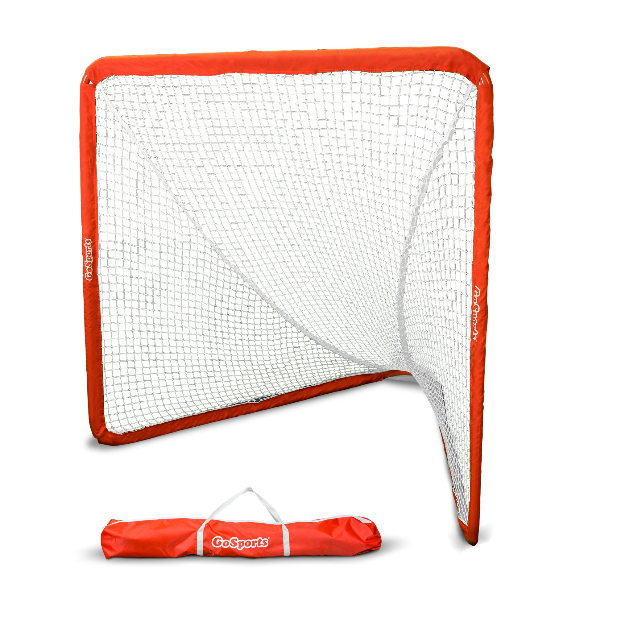 GoSports Regulation Lacrosse Goal with Steel Frame | Only Truly Portable Lacrosse Goal | Setup and Takedown in Minutes
