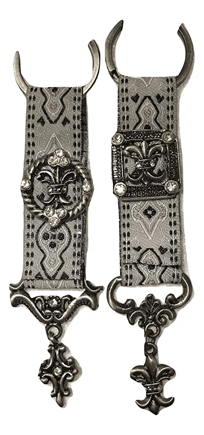 Amazon com : Welforth Fine Pewter Fleur de Lys Tapestry Key Ring Duo