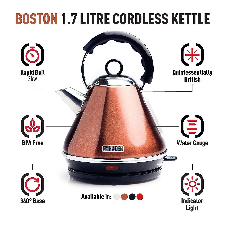 Haden Boston Cordless Kettle Electric