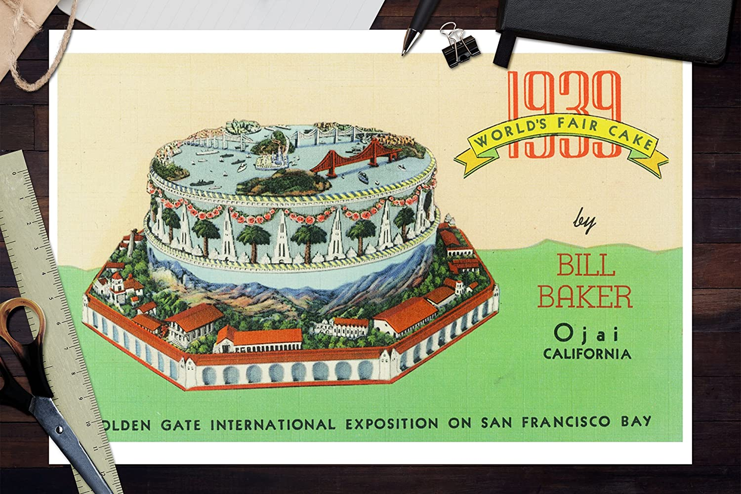Amazon San Francisco California 1939 Worlds Fair Cake By