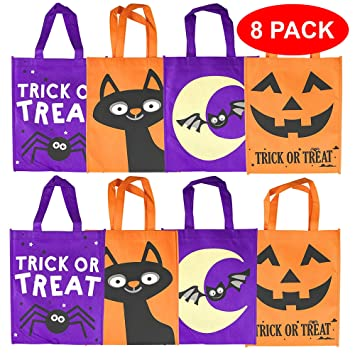 The Twiddlers Bolsas de Tela de Halloween - 4 Diseños Distintos Fiesta, IR de Trick or Treat Favores