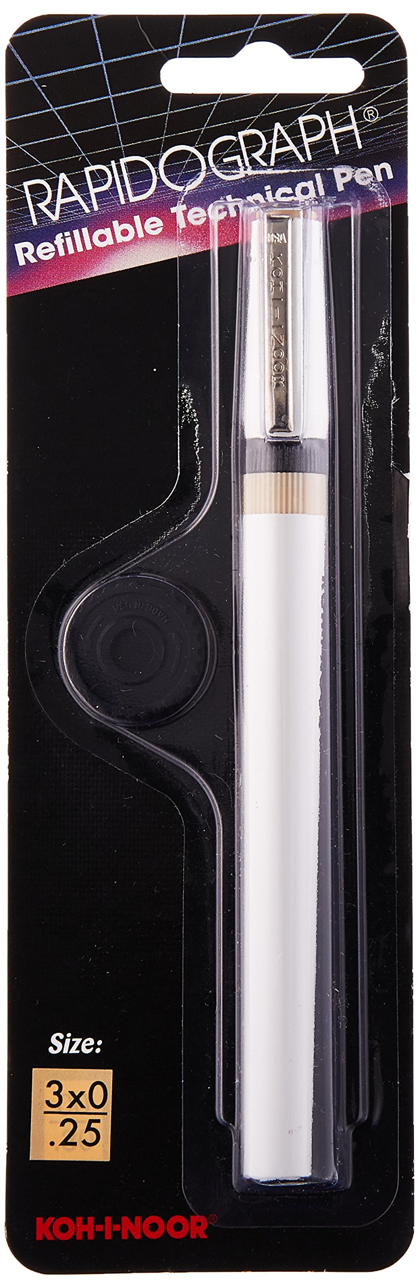 Koh-I-Noor Rapidograph Technical and Artist Pen.25mm Nib, 1 Each (3165.ZZZ) by Koh-I-Noor (Image #2)