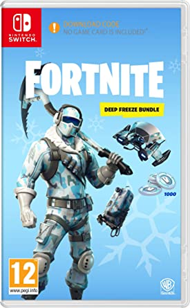 Fortnite Deep Freeze Bundle Nintendo Switch Code In The Box