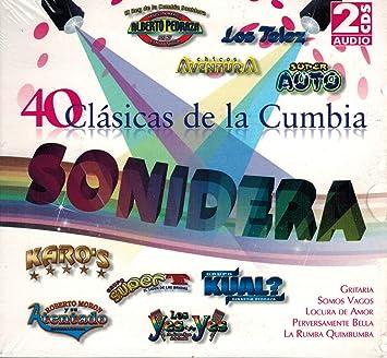Varios Artistas - 40 Clasicas de la Cumbia Sonidera (Varios Grupos 2CDs) - Amazon.com Music