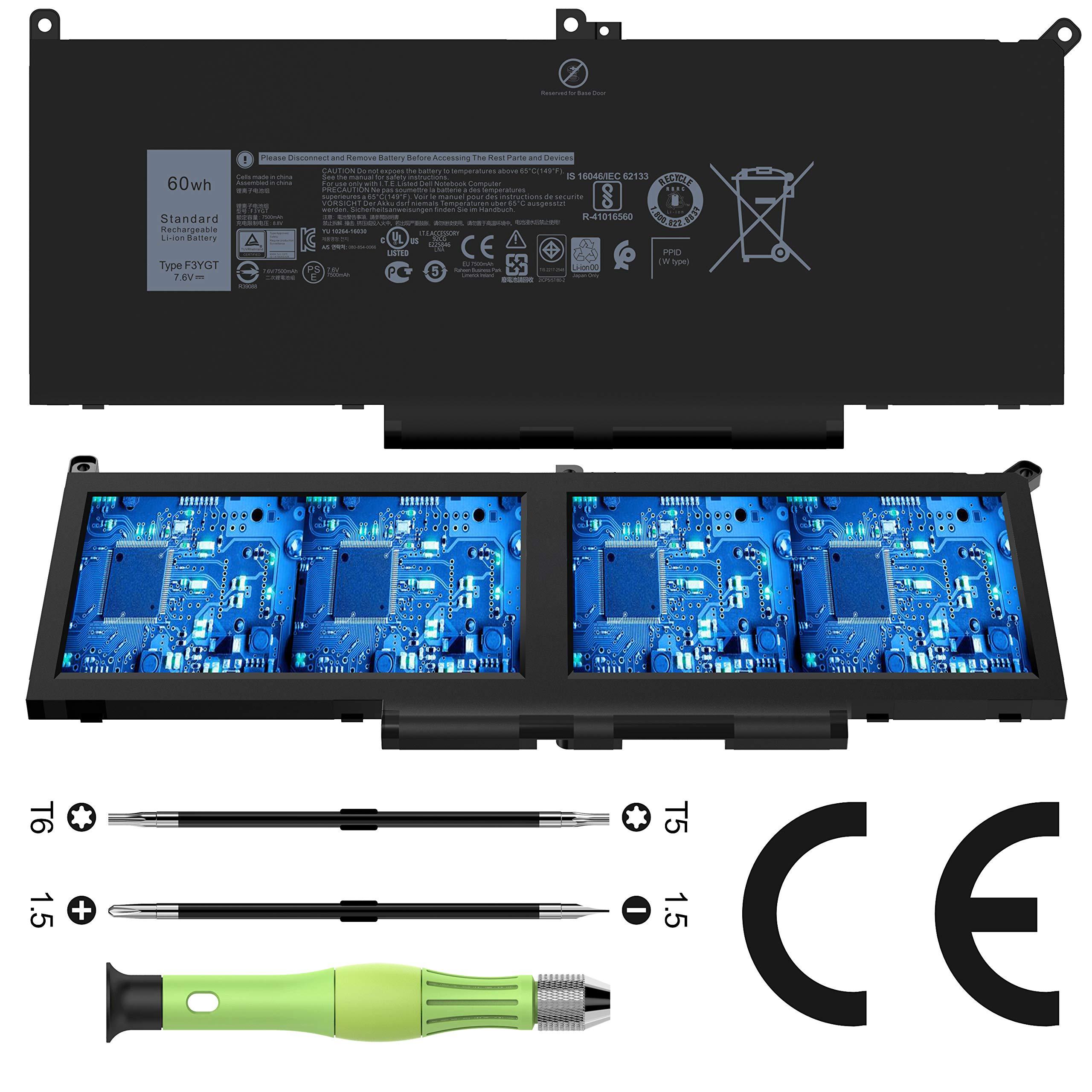 Bateria F3YGT Dell Latitude 12 7000 7280 7290 13 7000 7380 7