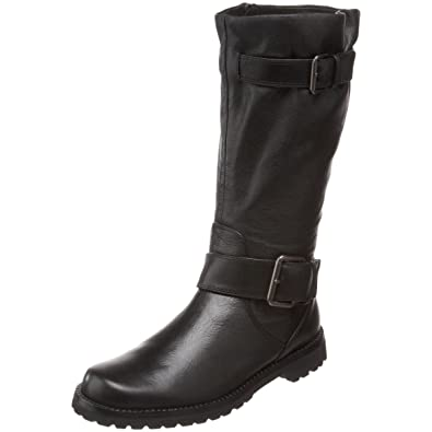 Black Gentle Souls Womens Boots Buckled Up