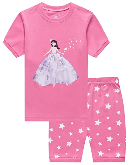 10d14ed1f Barara King Little Girls Snug-Fit Pajamas 100% Cotton Pink Pjs Clothes  Infant Kid