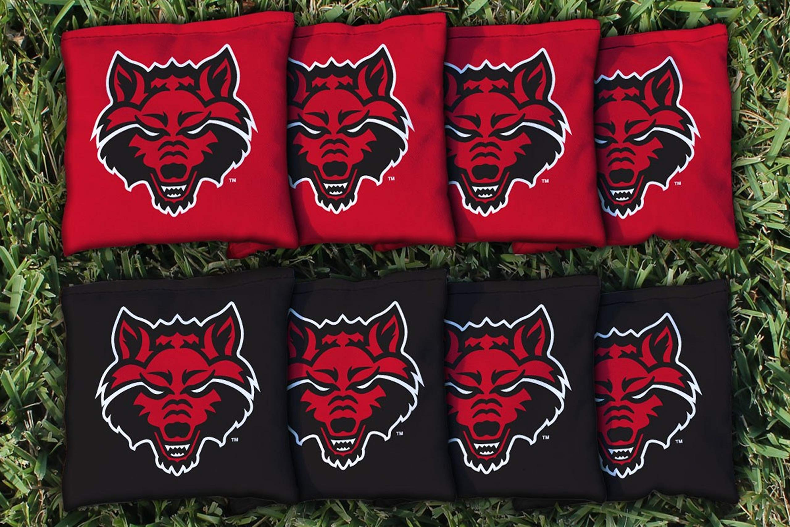 Victory Tailgate NCAA Collegiate Regulation Cornhole Game Bag Set (8 Bags Included, Corn-Filled) - Arkansas State Red Wolves by Victory Tailgate