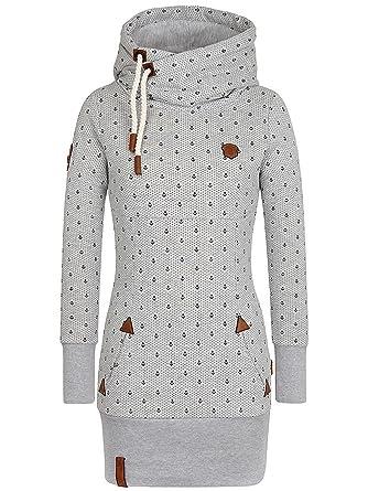 Naketano Damen Kapuzenpullover Lange Ankerdizzel II Hoodie