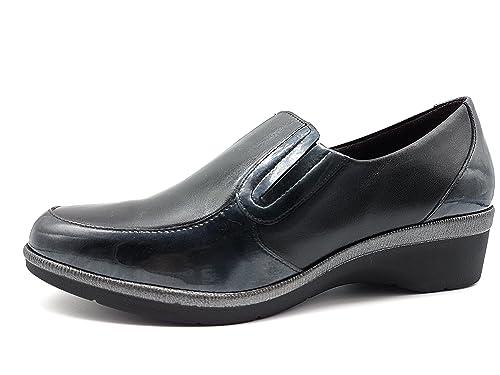PITILLOS 1210 Mocasin Classic Mujer Negro 34: Amazon.es: Zapatos y complementos