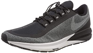 more photos 9582d 3bb75 Nike Air Zoom Structure 22 Shield Women's Running Shoe Black/White-Cool  Grey-VAST Grey 10.5