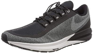 1ecc04d1498 Nike Air Zoom Structure 22 Shield Women's Running Shoe Black/White-Cool  Grey-VAST Grey 10.5