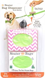 Neater Bag Dispenser - Dog Waste Poop Bags with Easy-tie Handles (not on Rolls)