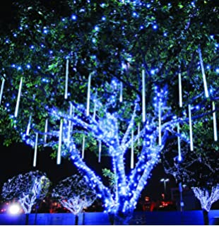 Amazon ora 100 led solar powered string lights with automatic meteor shower rain lights cobbe waterproof string for wedding party christmas xmas decoration tree party garden aloadofball Image collections