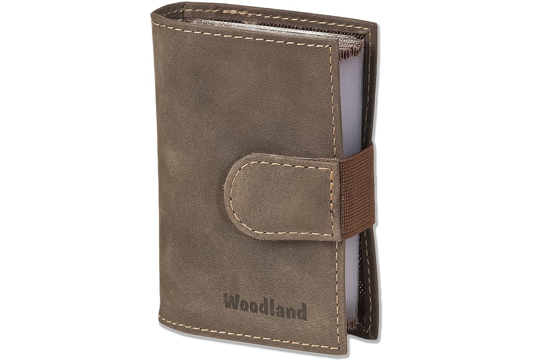 un buff trait/ée mou Woodland cas de la carte de cr/édit XXL-cuir de veau avec un espace pour un total de 18 cartes