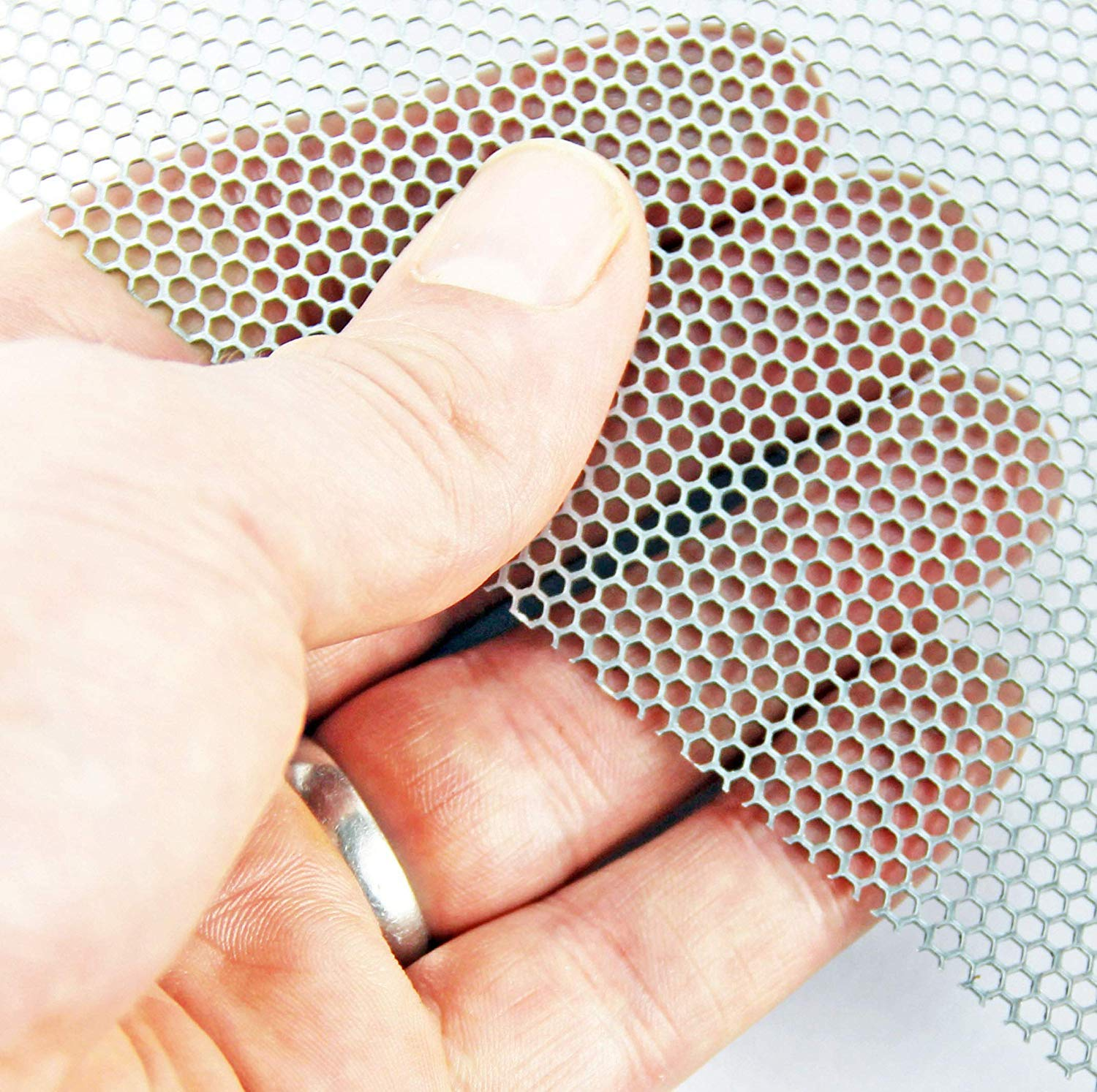 2mm Hexagonal Mild Steel Perforated Sheet (2mm Hole x 2.5mm Pitch x 1mm Thick) - A3 x 3 The Mesh Company