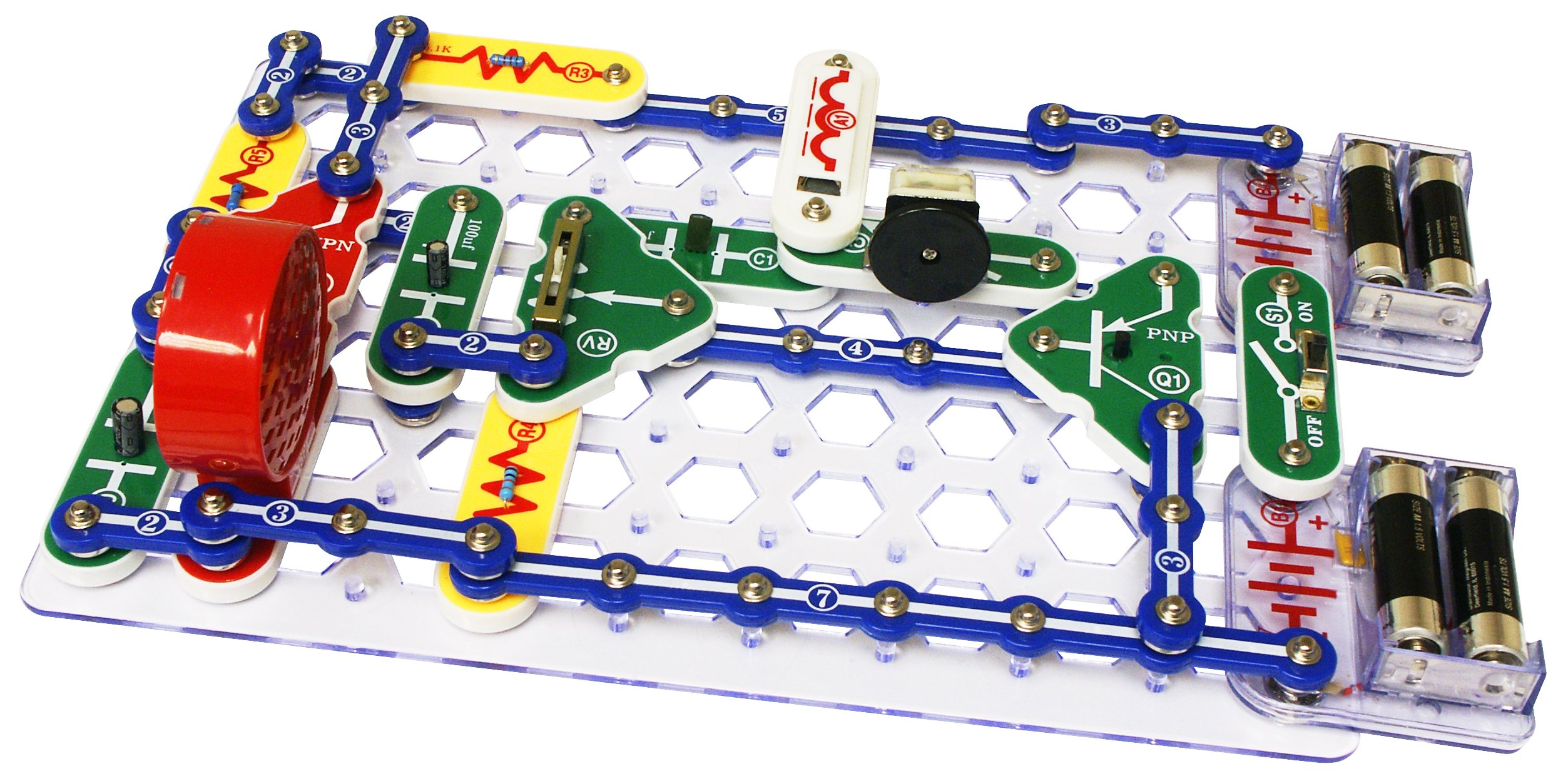 Snap Circuits Classic SC-300 Electronics Exploration Kit | Over 300 STEM Projects | 4-Color Project Manual | 60 Snap Modules | Unlimited Fun by Snap Circuits (Image #5)