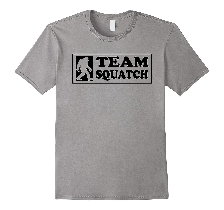 Team Squatch Classic Bigfoot Sasquatch Silhouette T-Shirt-FL