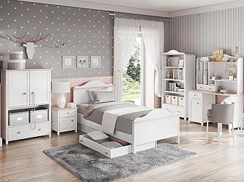 Kinderzimmer LUNA.02 (8 tlg.) Weiss/Rosa kinderzimmer komplett ...