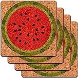Watermelon Low Profile Cork Coaster Set