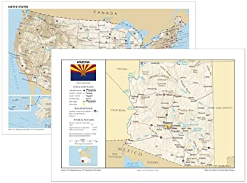 Amazon Com 13x19 Arizona And 13x19 United States General