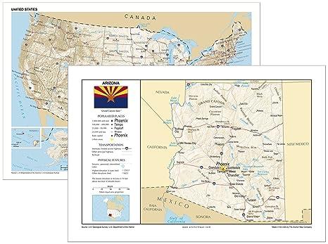 Amazon.com : 13x19 Arizona and 13x19 United States General ...