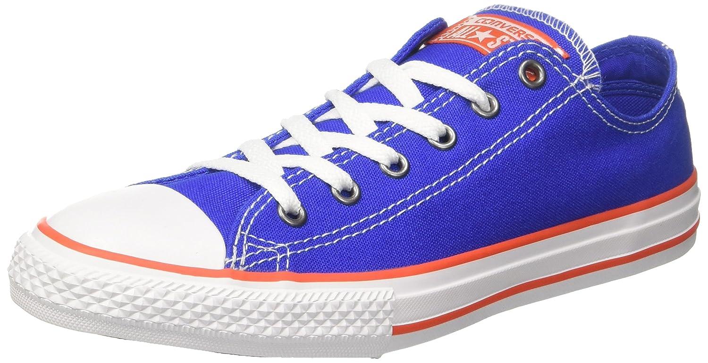 Converse Unisex-Kinder CTAS OX Fitnessschuhe  37/38 EU|Blau (Hyper Royal/Bright Poppy/White 483)