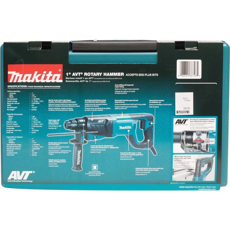 Makita HR2641 AVT Rotary Hammer Accepts SDS-PLUS Bits, 1'' by Makita (Image #10)