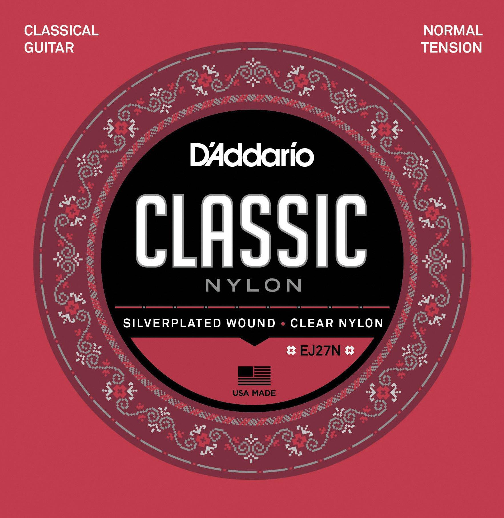 DAddario EJ27N - Juego de Cuerdas para Guitarra Clásica de Nylon, .028