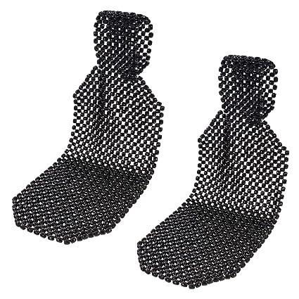2x Sitzbezug// Aufleger Holzkugeln Holzperlen Schwarz Universal      *Massage*