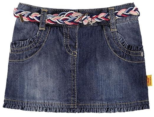 ae1b91f49eb0fa Steiff Baby Girls Rock Jeans Skirt - - 116: Amazon.co.uk: Clothing