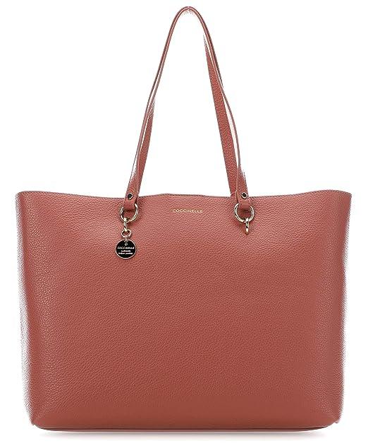 Coccinelle Alpha Borsa shopper rosa antico: Amazon.it