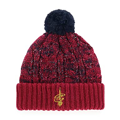 sports shoes 8708c 45415 Amazon.com   OTS NBA Cleveland Cavaliers Female Brilyn Cuff Knit Cap with  Pom, Cardinal, Women s   Clothing