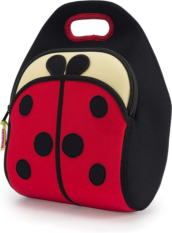 Dabbawalla Bags Kid's Lunch Bag, Insulated, Machine Washable, Ladybug