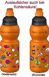 Fizzii Niños 330 Naranja Plástico botella caño seguro en carbón Acid, sin sustancias nocivas,