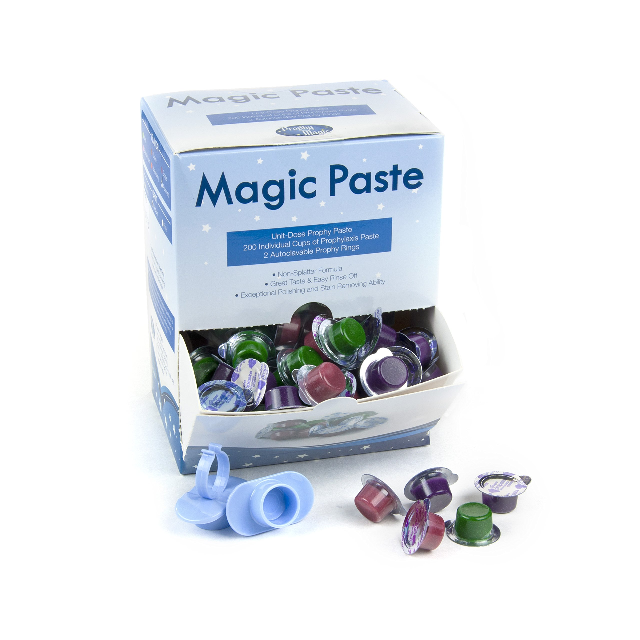 Prophy Magic 265-200 Prophy Paste, Variety, Medium, 6'' Height, 3'' Width, 4'' Length (Pack of 200)