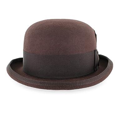 Belfry Tammany Men s Vintage Style Dress Fedora 100% Pure Wool Felt Derby  Bowler Hat in 1ce452950397