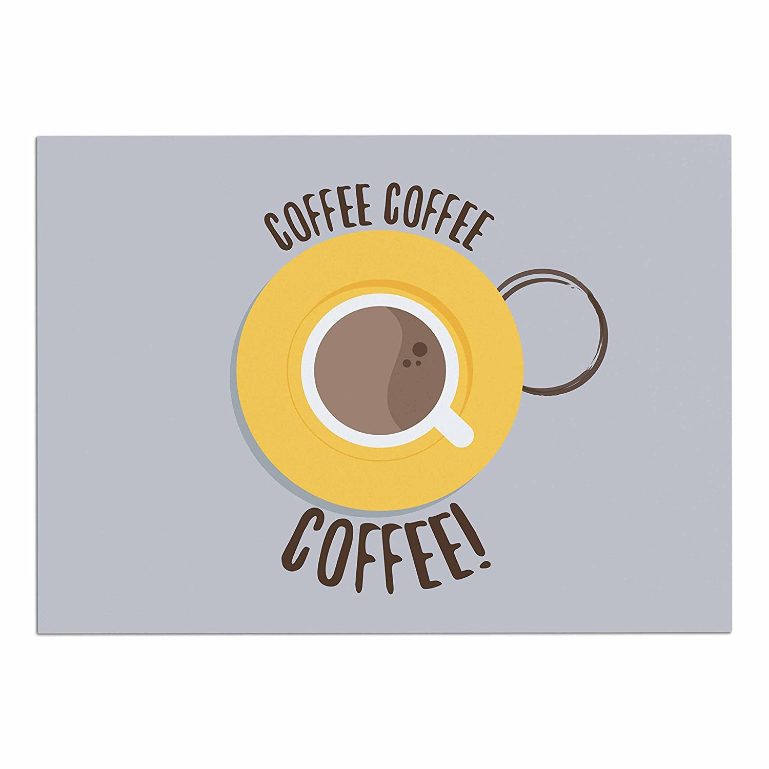 KESS InHouse JB1009ADM02 Jackie pink Coffee  Grey Yellow Dog Place Mat, 24  x 15