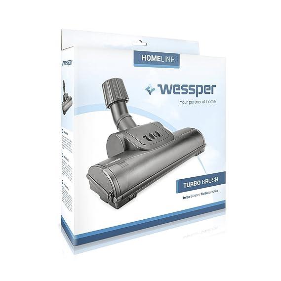 Wessper Turbo Boquilla para suelos para aspiradora ARIETE Aspirium 2386 (ø32mm-38mm, con ruedas): Amazon.es: Hogar