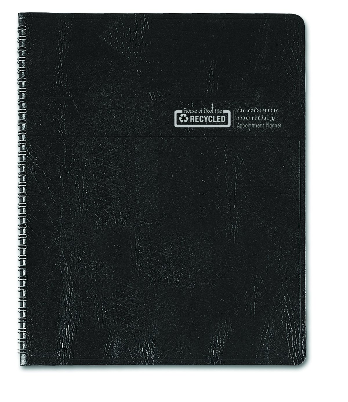 House of Doolittle 2016 - 2017 Planner, Academic, Black Cover, 8.5'' x 11'' (HOD26502-17)