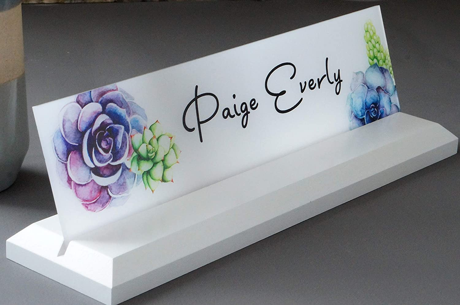 Desk Name Plate Personalized with your Name and Title