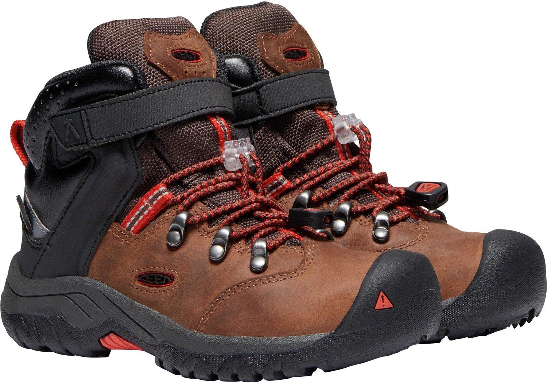 KEEN - Kid's Torino II Mid Waterproof Winter Boots, Tortoise Shell/Fiery Red, 8 M US Big Kid by KEEN (Image #5)
