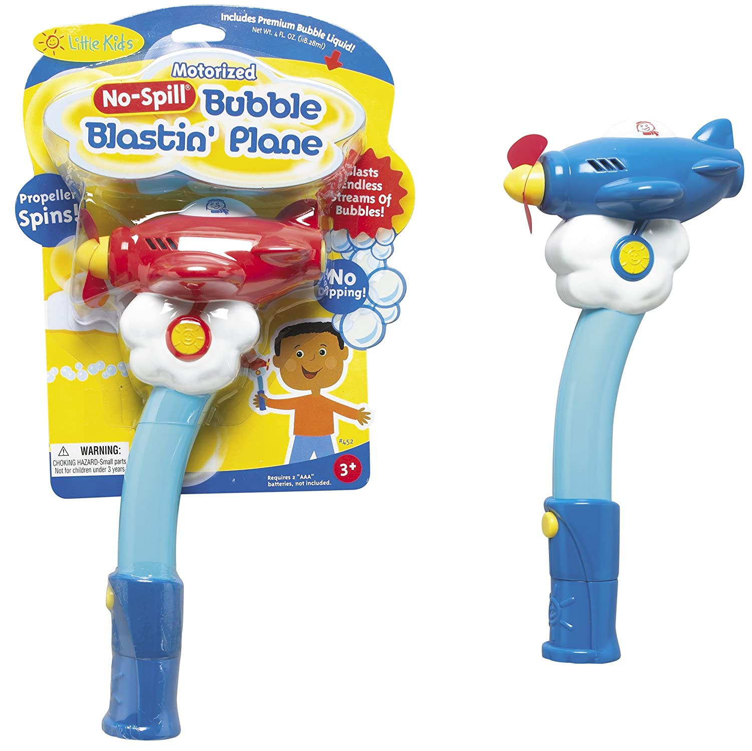 amazoncom little kids motorized nospill bubble blasting plane by little kids colors may vary toys u0026 games
